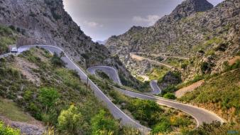 Fantastic spain curves landscapes loops wallpaper