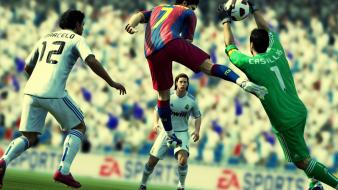 Fc barcelona real madrid football teams video games wallpaper
