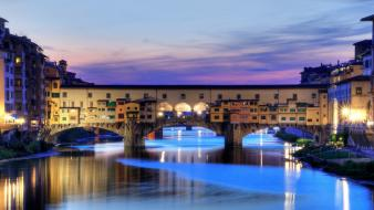 Florence italy ponte vecchio cityscapes city skyline wallpaper