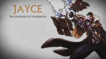 Game characters jayce league of legends video games wallpaper