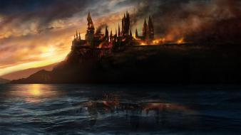 Hogwarts artwork castles fantasy art Wallpaper