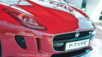 Jaguar f-type cars red Wallpaper