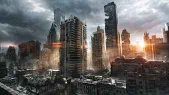 Jonasdero new york city postapocalyptic ruins skyscrapers Wallpaper