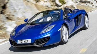 Mclaren blue cars mp4-12c spider wallpaper