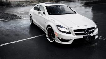 Mercedes-amg cls 63 amg coupé auto cars white Wallpaper
