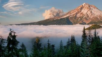 Mt. hood national geographic oregon fog forests wallpaper