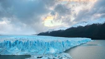 Patagonia south america clouds ice mountains Wallpaper