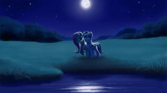 Pony friendship is magic rainbow dash moonlight wallpaper
