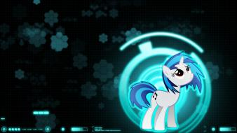 Pony friendship is magic vinyl scratch unicorns wallpaper