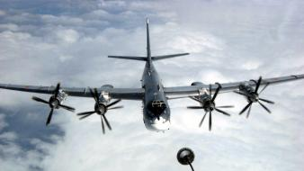 Russian air force soviet tu-95 bear tupolev aircraft wallpaper