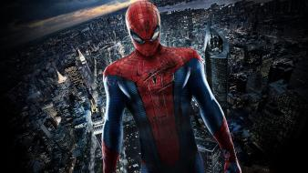 Spiderman the amazing cityscapes dark movies wallpaper