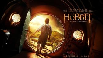 Art the hobbit bilbo baggins open doors wallpaper