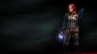 Assassins of kings triss merigold magic redheads wallpaper