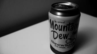 Black and white pop mountain dew soda cans Wallpaper