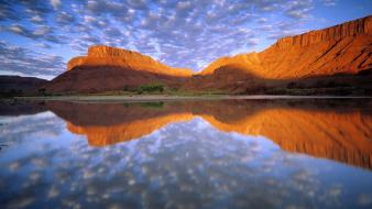 Buttermilk clouds colorado river wallpaper