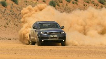 Cars audi dust q7 suv german drift wallpaper