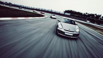 Cars roads racing porsche cayman s wallpaper