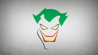 Comics the joker villians grey background blo0p wallpaper