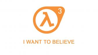 Half-life typography hope believe white background wallpaper