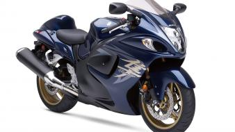 Hayabusa Suzuki Blue Bike Wallpaper