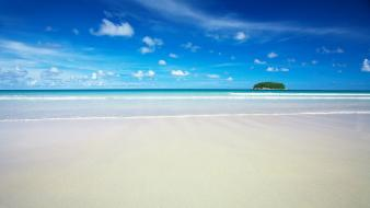 Hd Sky Blue Beach Hd Wallpaper