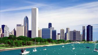 Lake michigan chicago skyline wallpaper