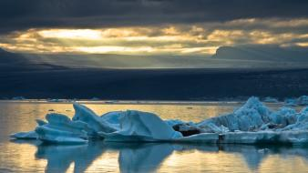 Landscapes nature icebergs skyscapes sea wallpaper