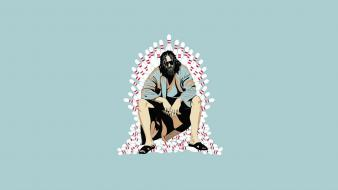 Minimalistic movies the dude big lebowski wallpaper
