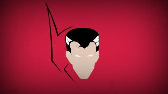 Minimalistic superheroes red background doctor strange blo0p wallpaper