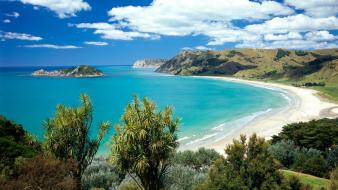 Nature beach new zealand bay wallpaper