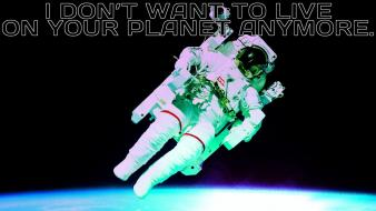 Outer space astronauts orbit professor farnsworth zero gravity Wallpaper
