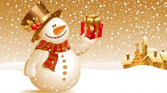 Snowman Christmas Gift wallpaper