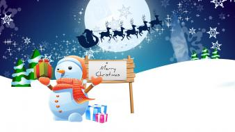 Snowman Merry Christmas wallpaper
