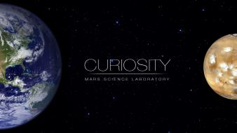 Stars planets mars earth font laboratory curiosity wallpaper