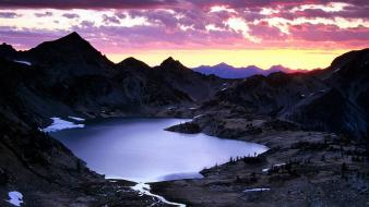 Sunrise upper ice lake basin wallpaper