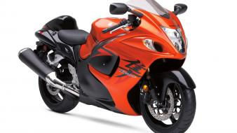Suzuki Hayabusa Orange Bike Wallpaper