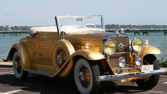 1931 cadillac coupe drop head gold wallpaper