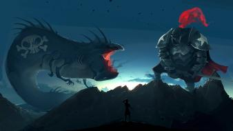 Alexis rives artwork digital art monsters wallpaper