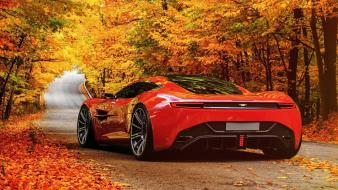 Aston martin dbc cars design red wallpaper