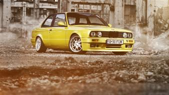 Bmw e30 cars selective coloring wallpaper