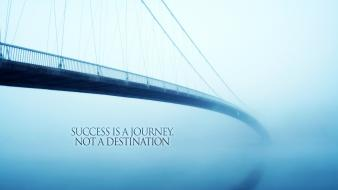 Bridges mist quotes success wallpaper
