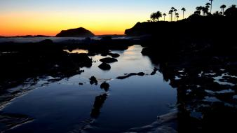 California usa beaches coast evening Wallpaper