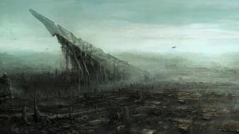 Chris cold artwork cities science fiction scythe Wallpaper