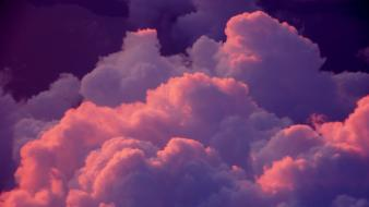 Clouds pink poses purple wallpaper