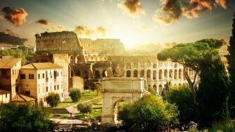Colosseum rome historic wallpaper