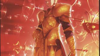 Fatestay night fate series gilgamesh typemoon artbook wallpaper