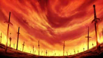 Fatestay night fate series unlimited blade works skyscapes wallpaper