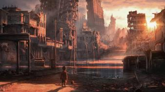 Forsaken jonasdero abandoned children city post apocalyptic Wallpaper