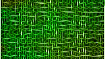 Fractalius abstract black circuits green wallpaper