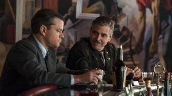 George clooney matt damon the monuments men still wallpaper